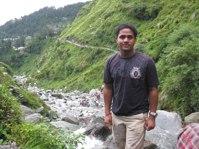 near bhagsu naag waterfall