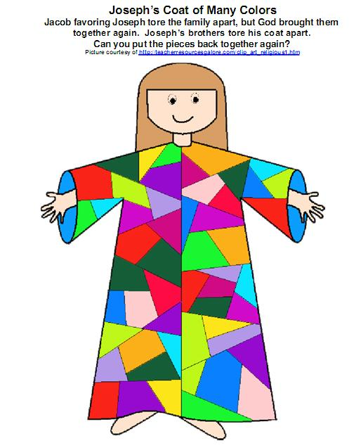 BIBLE CRAFTS FOR KIDS: Joseph's Coat of Many Colors