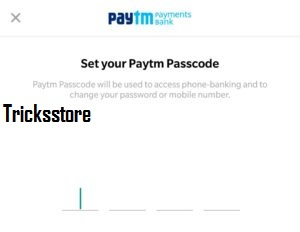 How to open account in paytm payment bank create pass code