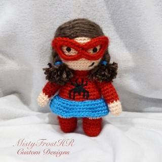PATRON SPIDERMAN WOMAN AMIGURUMI 27592