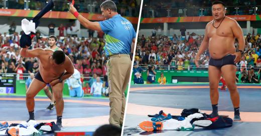 Pierde medalla por festejar antes y entrenadores se desnudan