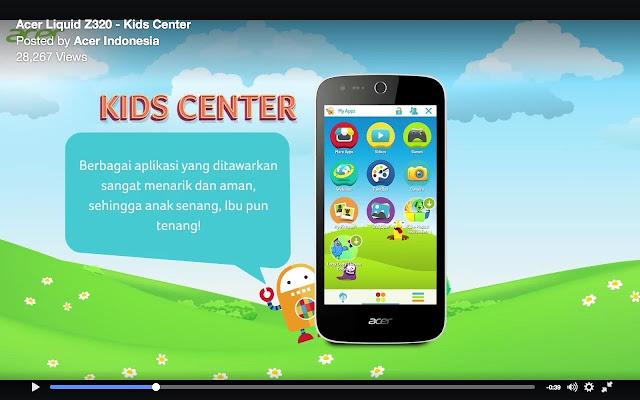 Acer Liquid Z320, Ponsel Android, Fitur kids center