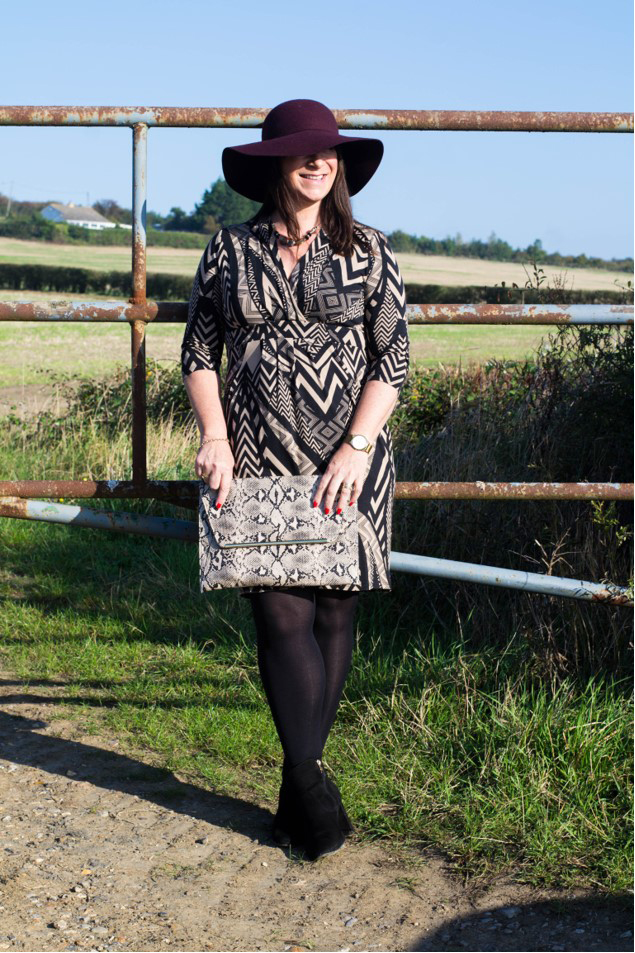 Hats go well with any outfit including this daytime chic look from Mummabstylish blogger Jacqui