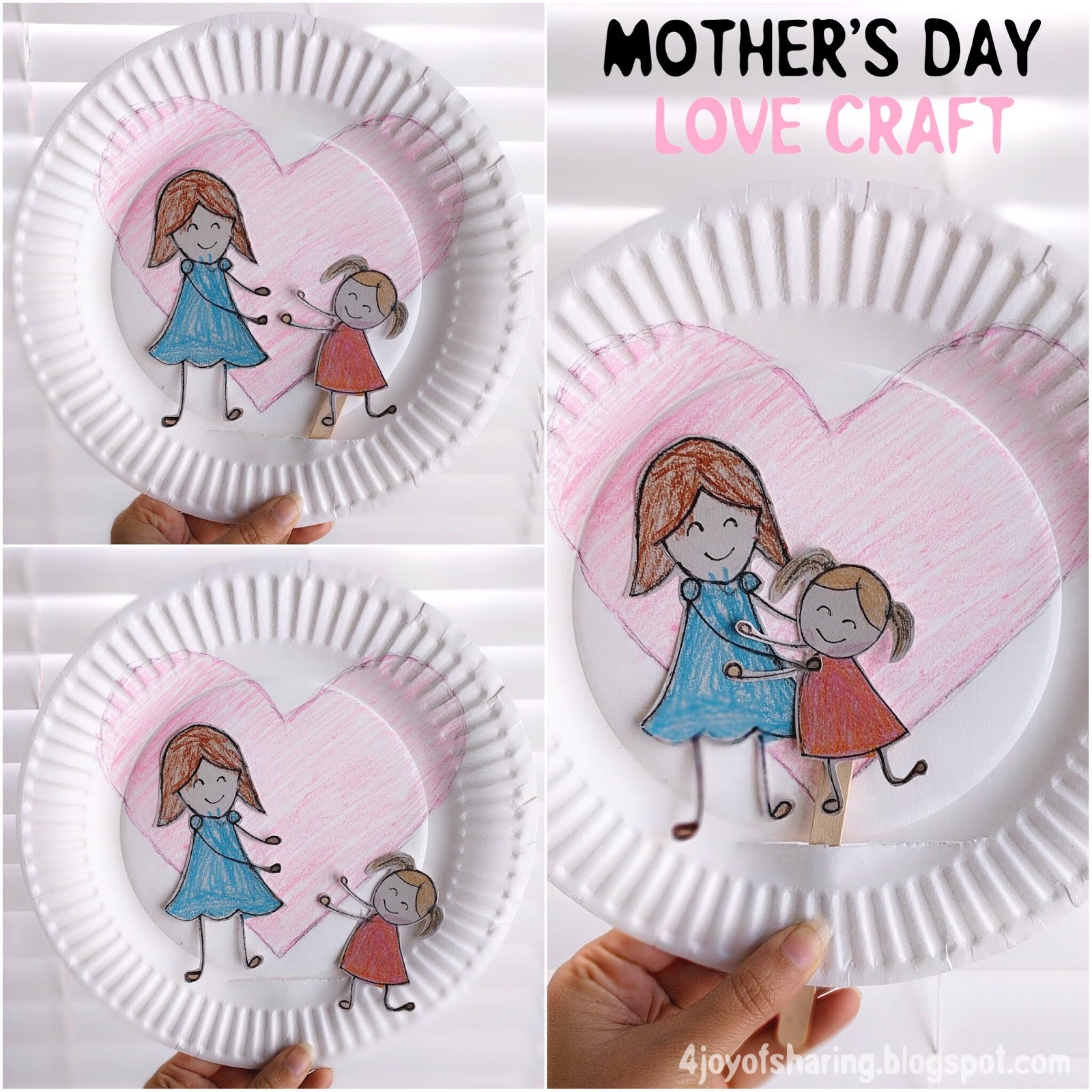 The joy of sharing mother 39 s day love craft for Mothers day painting crafts