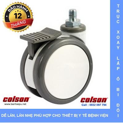 Bánh xe giường bệnh y tế Colson phi 125 có khóa | CPT-5854-85BRK4 www.banhxeday.xyz