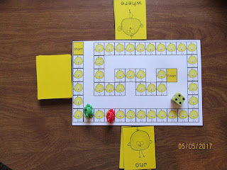 FREEBIE Chicks Sight Word Race