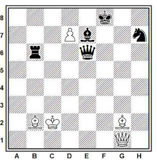 Estudio artístico de ajedrez compuesto por E. Dobrescu (1º Premio, Revista Romana de Sach, 1980)
