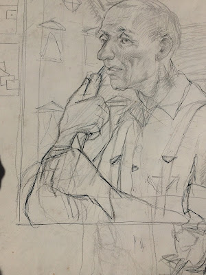 Sketch for Farmer Portrait by Francis Quirk Lehigh University Faculty Member
