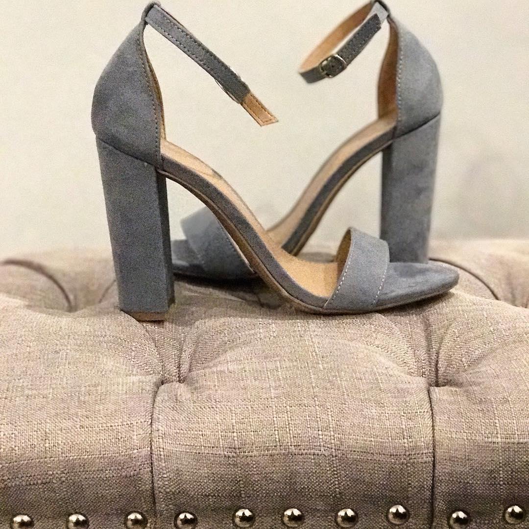 block suede heels