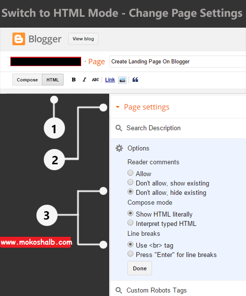 How To Create A Landing Page/Squeeze Page On Blogger