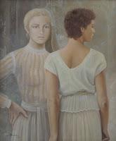 Alberto Pancorbo arte moderno hiperrealista surrealista dos chicas muchacas