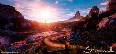 """The setting sun looks beautiful""."