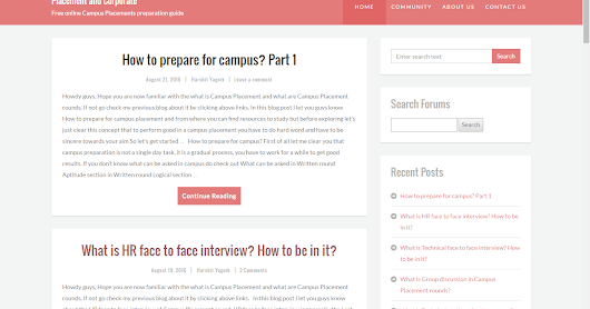 Avoided Thoughts: C&P - For Complete Campus Placement Preps