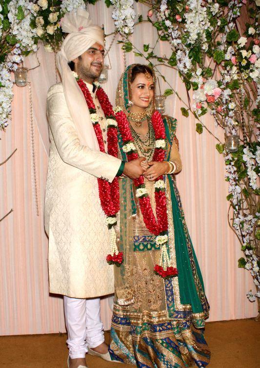 Indian Model Actress Dia Mirza Marriage Reception Photos