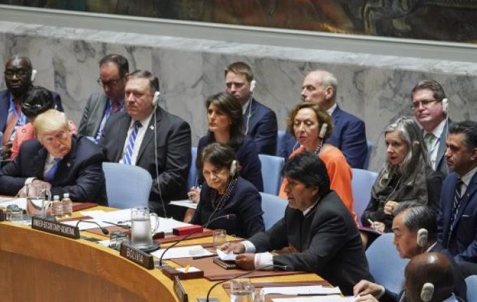 Trump y Morales se encontraron en septiembre en la sesión ordinaria de la ONU / AFP