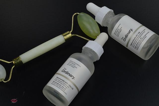 The ordinary, how to deal ipeg pigmentation, iper-pigmentazione, Alpha Arbutin 2% + HA; Niacinamide 10% + Zinc 1%; skincare regimen, deciem, jade roller
