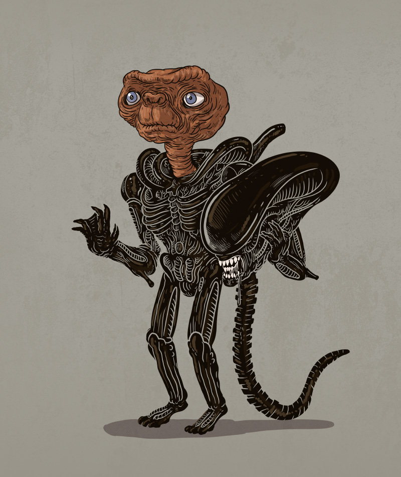 01-Alien-and-ET-Alex-Solis-Illustrations-of-Icons-Unmasked-www-designstack-co