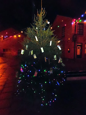 Picture: The Brigg Tree of Light 2018 with messages remembering friends and family who have passed away - see Nigel Fisher's Brigg Blog