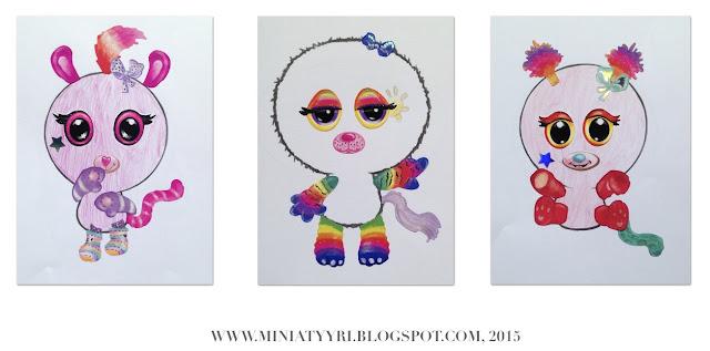 Minimoomin ja sateenkaaren värit - Minimoomin and the rainbow colours | Miniatyyria