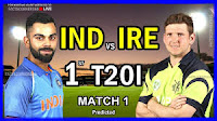 Cricket live score, India vs Ireland 1st t20 live updates.