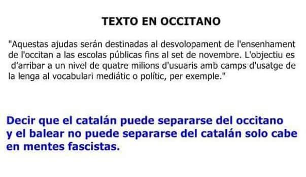 occitano, catalán, parecidos, misma lengua