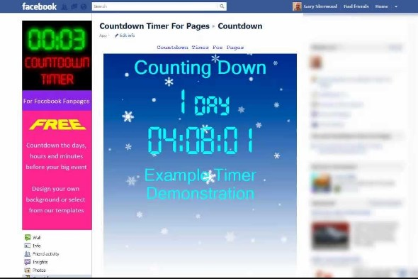 How to Add Countdown App for Facebook