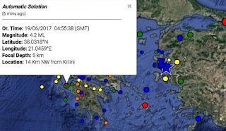 Σεισμός στην Κυλλήνη το πρωί της Δευτέρας