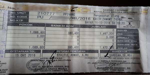 Biaya Balik Nama Stnk Bpkb Motor Terbaru Serta Cara