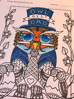 Owl Best Day coloring page