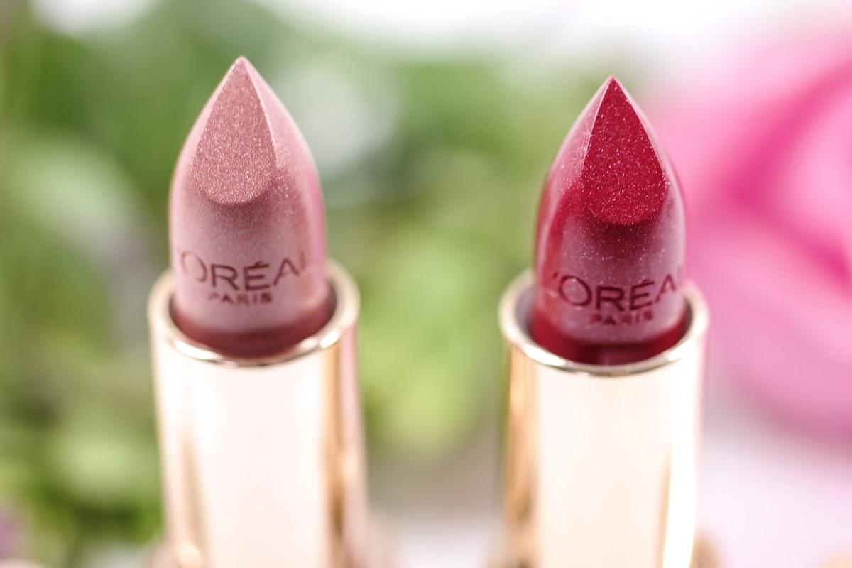 Lippenstift in Rot und Gold