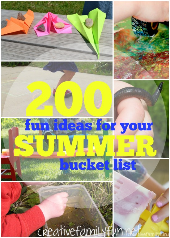 Are you making a summer bucket list? Here are 200 fun summer bucket list ideas to choose from. Have fun with your kids this summer!