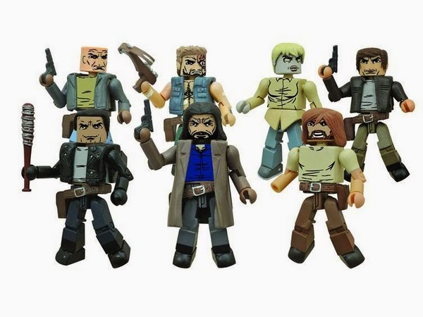 The Walking Dead Minimates Series 7 Action Figures - Negan, Marauder Leader Chris, Jesus, Dwight, Zombie Holly, Rick & Scavenger Leader Derek