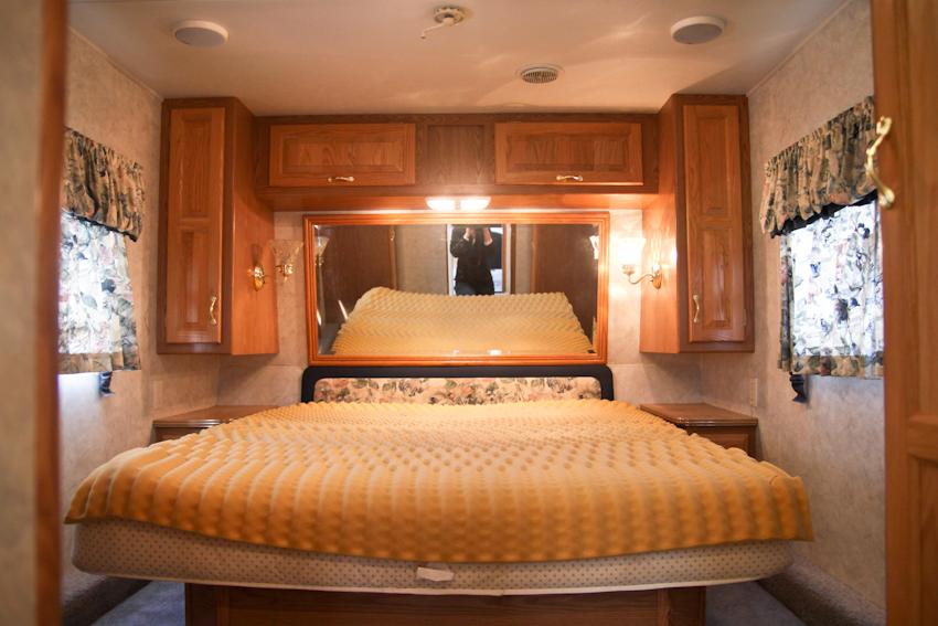 Modern RV Camper Makeover Before Photo Of Bedroom