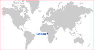 Gambar Peta letak Gabon