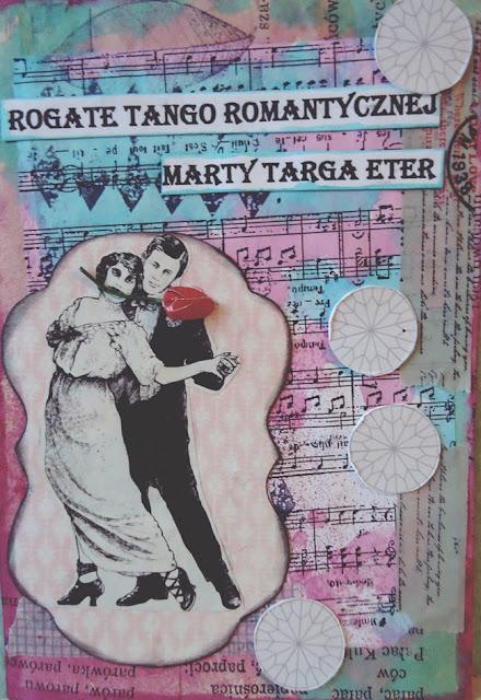 Zabawna kartka hand made, rogate tango,