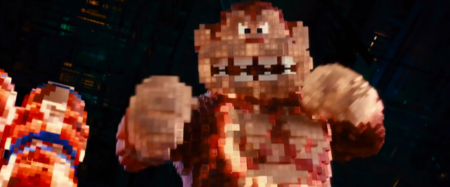 Pixels Donkey Kong arcade movie film 8-bit final boss Adam Sandler
