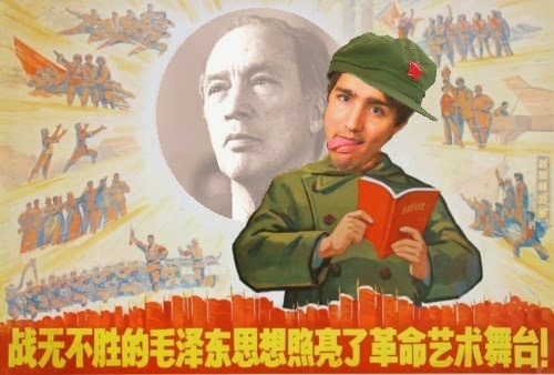 Image result for Trudeau loves china graphics