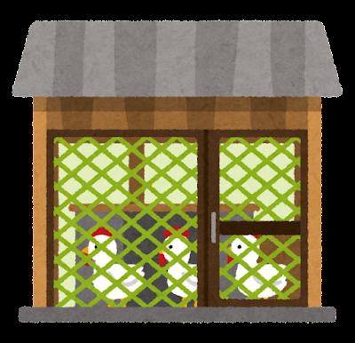 鶏小屋のイラスト