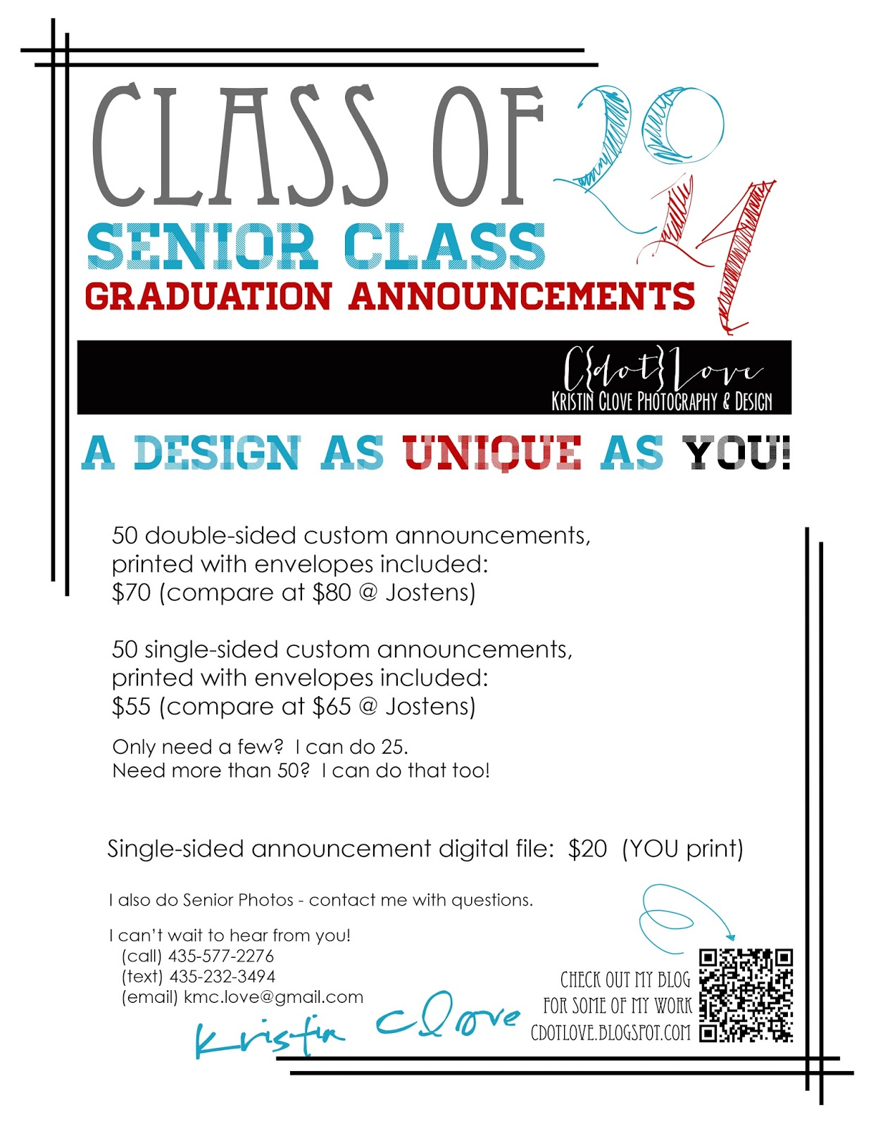 customizable graduation announcements