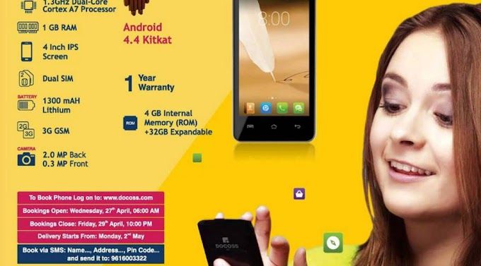 Docoss X1 Android Smartphone Rs.888 Cash On Delivery