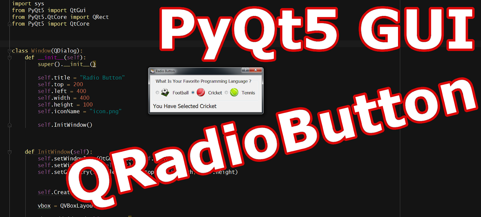 Pyqt Radio Button