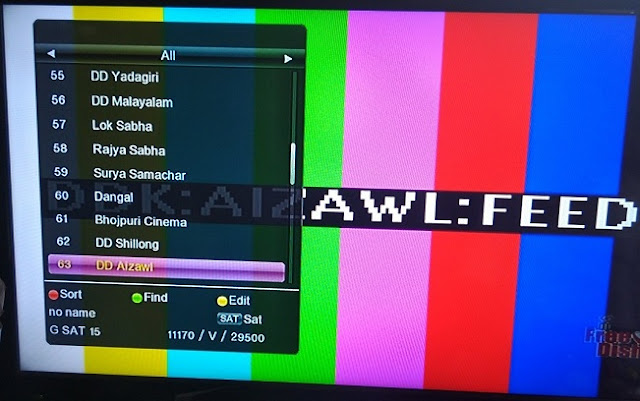 DD Aizawl (Aizawl Doordarshan) added on DD Freedish