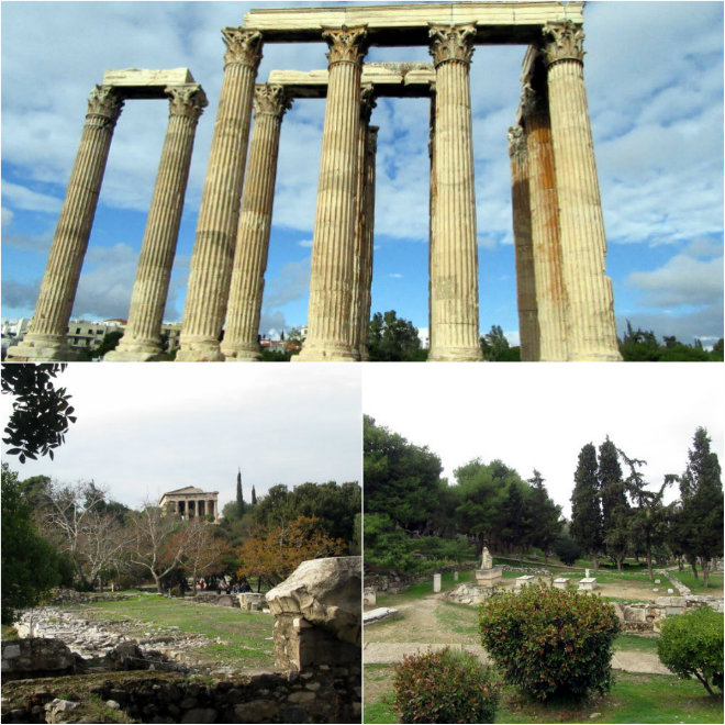 Athens, the ancient city of our past by Laka kuharica: Zeusa temple, Hefestes temple, Kerameikos