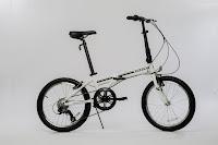 "EuroMini ZiZZO Campo in white,  image, lightweight 20"" 7-speed folding bike"