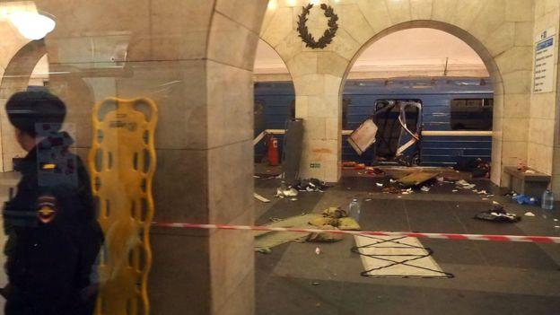 Blast in St Petersburg metro station kills 10 - authorities