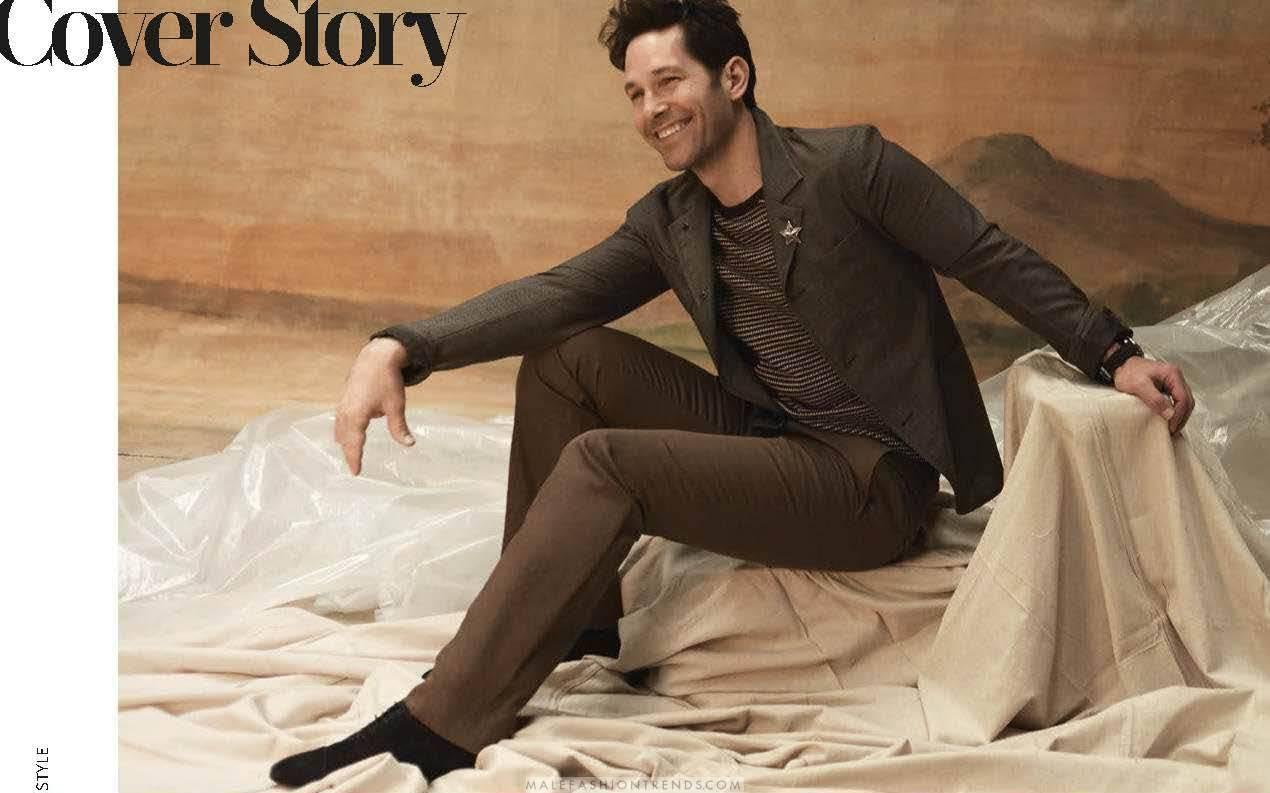 9d23d17169f77 El actor y guionista estadounidense Paul Rudd se convierte en el  representante máximo de la moda y del estilo en el número Spring-Summer  2018 de GQ Style ...