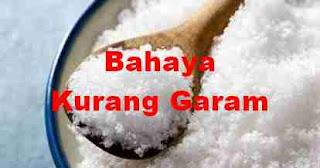 Kurang Garam beresiko Penyakit Jantung lho !
