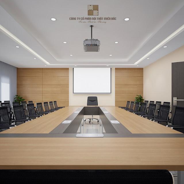 Thiết kế nội thất phòng họp cũng cần có sự đồng bộ, hài hòa để có thể làm nổi bật dấu ấn riên