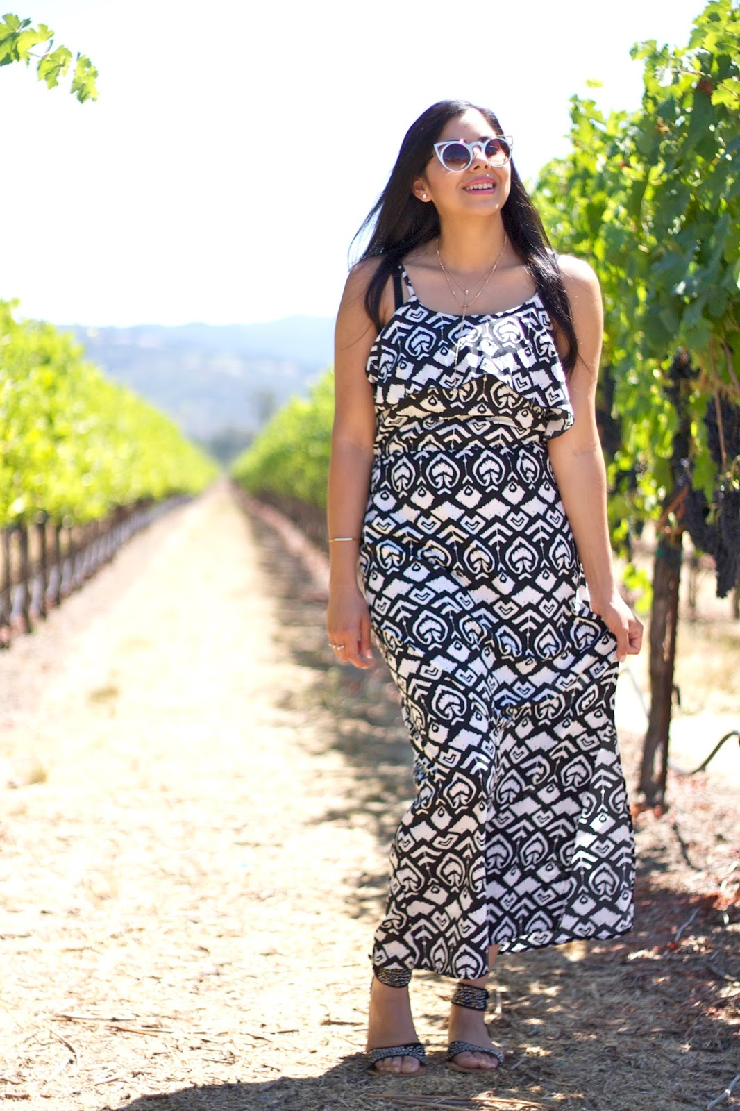 San Diego Blogger, SD Style Bloggers, What to wear wine tasting, comfortable stylish outfit, maxi dress outfit