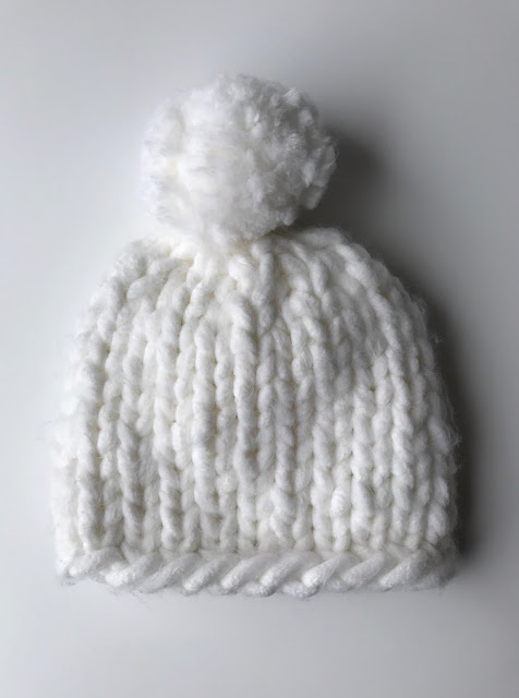 CHUNKY KNITS HAT - WHITE